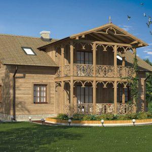casa mare lemn cu mansarda