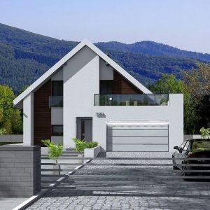 casa medie cu mansarda