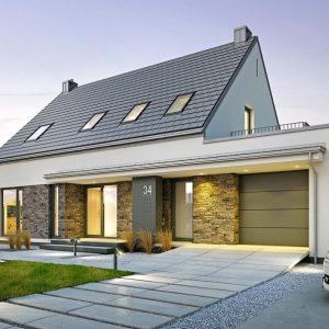 casa modrna cu garaj