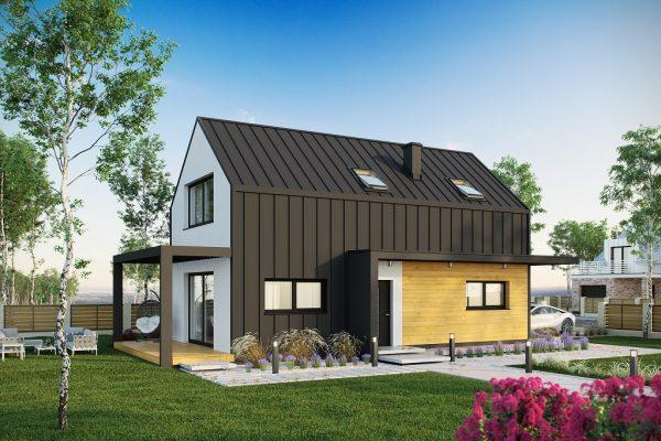 proiect casa mica cu etaj